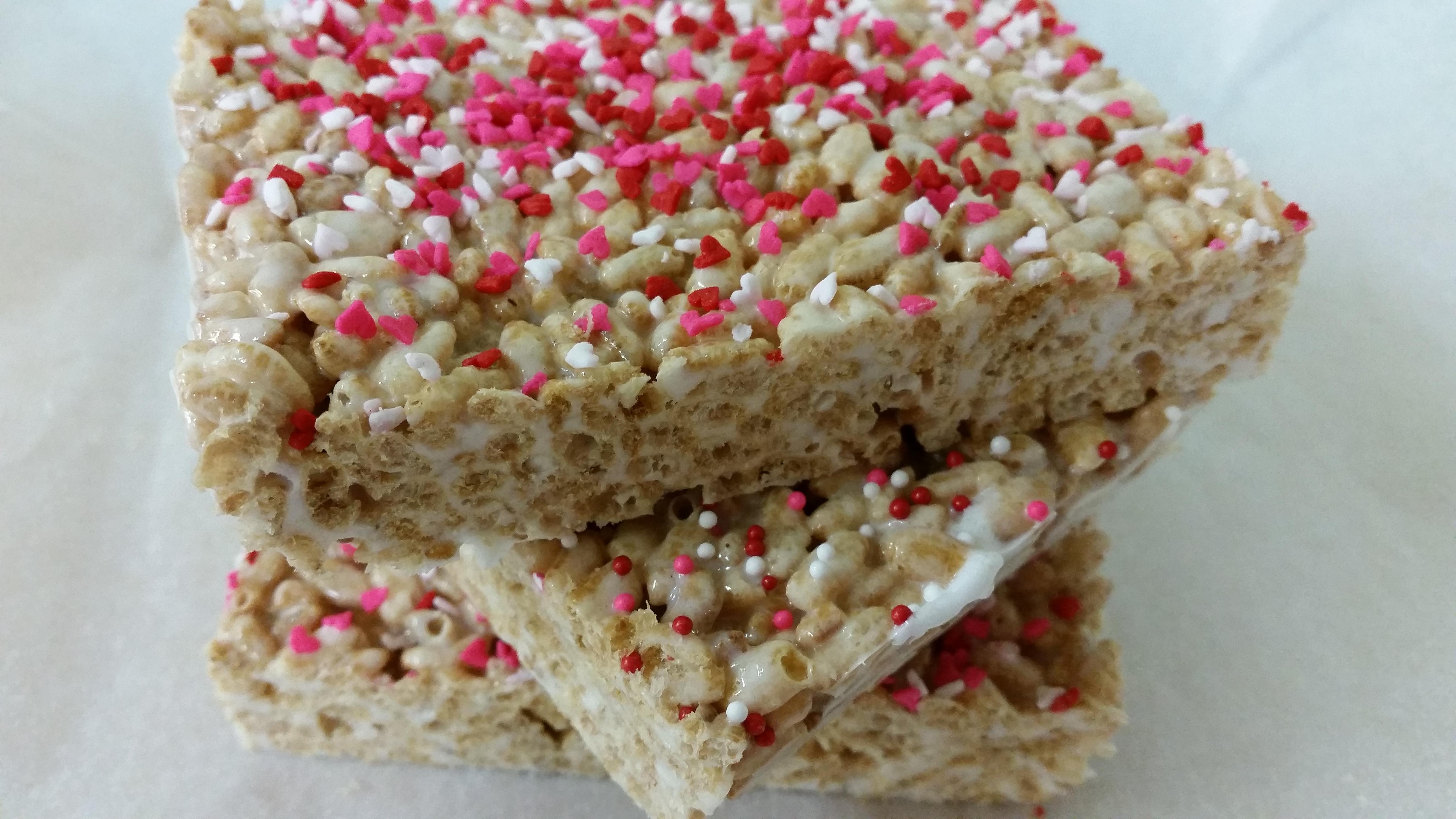 Valentines Organic Brown Rice Crispy Treats